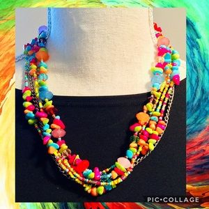 Multicolored Beaded Adjustable Necklace